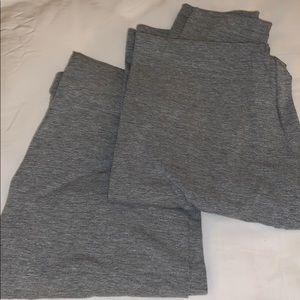 Two pair of American Apparel leggings dark grey